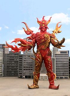 Fireroid Meran | RangerWiki | FANDOM powered by Wikia Space Empires, All Power Rangers, Battle Robots, Go Busters, Non Commissioned Officer, Monster Costumes, Fandoms, Demon King, Monster Design