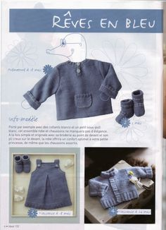 Albums archivés Knitting Magazine, Crochet Magazine, Knitting For Kids, Baby Knitting Patterns, Essentiels Mode, Denim Button Up, Button Up Shirts, Baby Romper Pattern, Sous Pull