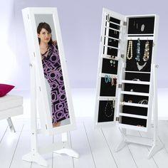 Armoire à bijoux avec miroir Shoe Rack, Bookends, House, Home Decor, Mirror, Household, Homes, Deco, Swiss Guard