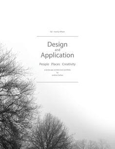 Fall 2015 Landscape Architecture Portfolio