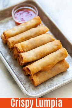 Lumpia are Filipino fried spring rolls filled with ground pork and mixed vegetables. This lumpia recipe is authentic and yields the crispiest lumpia ever! Fried Spring Rolls, Chicken Spring Rolls, Filipino Recipes, Asian Recipes, Lumpia Recipe Filipino, Filipino Food, Comida Filipina, Appetizer Recipes, Gourmet
