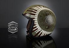 Airbrushed custom helmets, special luxury design by Unexpected Custom Custom Bike Helmets, Custom Bikes, Motorbike Parts, Motorcycle Helmets, Ideas Para Inventos, Kawasaki Vulcan S, Banners, Helmet Paint, Biker Gear