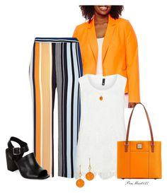 Orange You Glad? #Plussize by penny-martin on Polyvore featuring polyvore fashion style Manon Baptiste Worthington River Island New Look Dooney & Bourke Be-Jewelled Irene Neuwirth clothing
