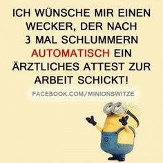 I would like a wekcer who, after three sleeps, automatically becomes a doctor . - I would like a wekcer who, after three slumber, automatically becomes a doctor … – Funny – # - One Word Sentence, True Quotes, Funny Quotes, Cute Minions, Funny Minion, Remember Quotes, Tabu, Feelings And Emotions, Minions Quotes