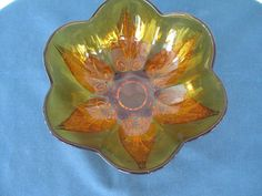 Vintage Anchor Hocking Amber Glass Bowl by BitofHope on Etsy