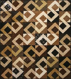 Road Less Traveled - very cool!  Go to for pattern: http://shop.fabricsnquilts.com/Road-Less-Traveled-Quilt-Pattern-QD-RLT.htm