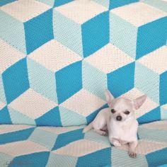 Isabelle Kessedjian: Vasarely blanket #7