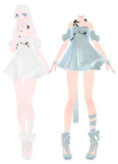 [MMD] Dress DL~ by UnluckyCandyFox.deviantart.com on @DeviantArt