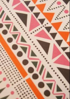 Navajo triangle and dot pattern