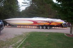 Fountain 46 - now that's a boat. Fast Boats, Cool Boats, Speed Boats, Power Boats, Fountain Powerboats, Boating Quotes, Offshore Boats, Boat Wraps, Float Your Boat