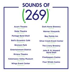 Sounds of 269 - Discover Kalamazoo Portage Bay, Stuff To Do, Things To Do, Three Oaks, Benton Harbor, Off The Map, Silver Creek, Three Rivers, Dark Horse