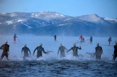 Photos: 2013 Ironman Lake Tahoe - Wicked looking race. Love the Team In Training support photo!