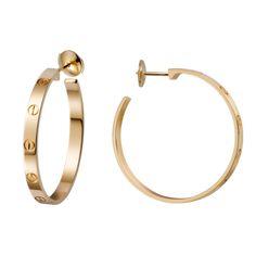 LOVE earrings - Yellow gold - Fine Earrings for women - Cartier