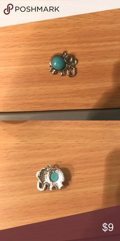 Elephant Pendant Silver with turquoise stone, cute elephant pendant for necklace! Brand new! I bought it as a necklace from The Elephant Necklace but the chain was broken. The Elephant Necklace Jewelry Necklaces
