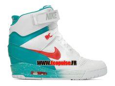 best sneakers 0c606 9b66d NIKE AIR REVOLUTION SKY HI GS - CHAUSSURE MONTANTE NIKE PAS CHER POUR FEMME  Blanc Gris loup Morelle noire Cramoisi laser 599410-101