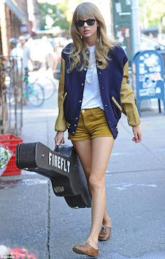 Taylor Swift shows off her slim pins in micro mini shorts for retro-style shoot