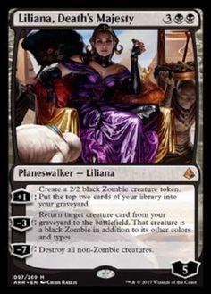 4X FOIL Liliana, Death's Majesty Amonkhet - MTG PRE-RELEASE