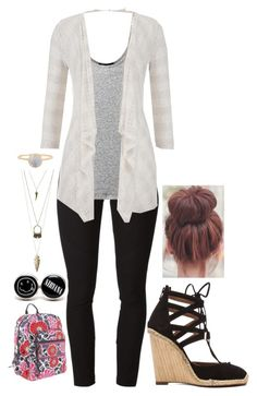 """First Day of School"" by mmgio on Polyvore featuring Helmut Lang, Vince, maurices, Aquazzura, Vera Bradley and Charlotte Russe"