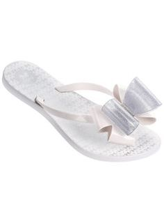 0ee83d479 New In Clothing   Shoes.   Zaxy White Twin Bow Flip Flops