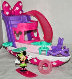Fisher-Price Disney Minnie Mouse Polka Dot Yacht Playset, Complete