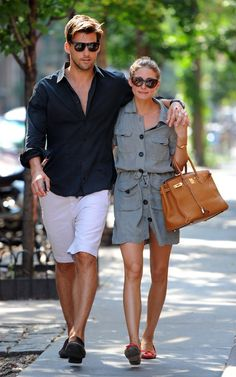 Olivia Palermo wearing Tom Ford Anouk Sunglasses, Hermes Birkin Bag in Tan and French Sole Flats.