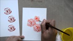 Use a layering floral image together with some Distress inks to get a painted look. - Altenew