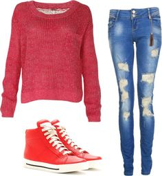 """""""RED"""" by judyyr ❤ liked on Polyvore"""