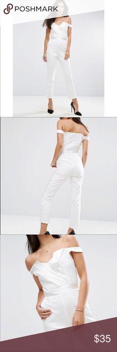 Asos Tuxedo White Jumpsuit NWT Brand new with Tags!!! Asos Size 6 ASOS Dresses