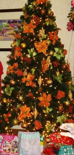 image detail for christmas tree this year we had the orange lime - Orange Christmas Decorations