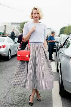 layers of grey ::major skirt:: with a pop of red