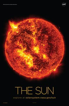 Version A of the Sun installment of our solar system poster series.