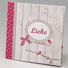 Geboortekaartje - Meisje :: Belarto www.belarto.be/geboortekaartjes