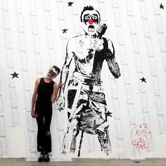 L'affiche de Mimi the Clown recouvrira celle de Soco collée le 4 mai.