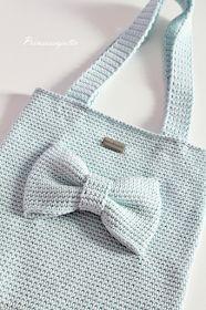 Prinsessajuttu: Virkattu rusettilaukku, OHJE Handmade Bags, Crochet Projects, Knit Crochet, Reusable Tote Bags, Embroidery, Knitting, Kids, Accessories, Crocheting