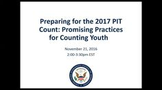 Preparing for the 2017 PIT Count: Promising Practices for Counting Youth