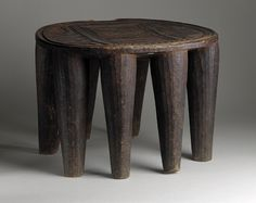 Oval Stool with Incised Carving Africa, Northern Nigeria, Nupe peoples Furnishings; Furniture Wood Height: 16 in. (40.64 cm) | LACMA Collections