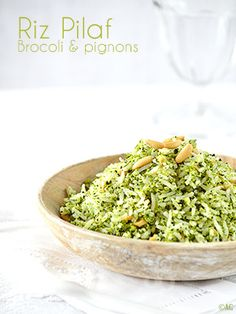 We are not big eaters of rice and we prefer Pilaf. A cooking that I find interesting, that I also use for other cereals and which is also very suitable for bulgur, for example. No Salt Recipes, Rice Recipes, Healthy Recipes, Broccoli Rice, Broccoli Recipes, Healthy Vegetables, Veggies, Super Dieta, Yummy World