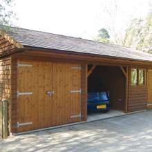 Simple timber garages