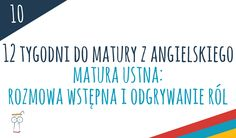 Matura ustna z angielskiego - rozmowa wstępna i odgrywanie ról Language, English, Teaching, Education, Languages, English Language, Onderwijs, Learning, Language Arts