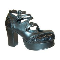 ad5c0ea289be6 Nice 3 1/2 Inch Chunky Heel Platform Shoes Gothic Shoes Gothic Shoes, 2