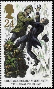 Sherlock Holmes auf Briefmarke von 1993