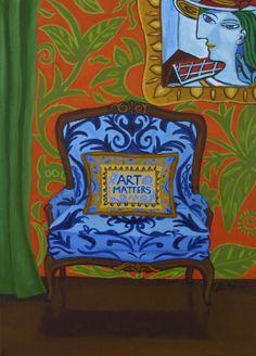 """ART MATTERS PRINT"" by Catherine Nolin."