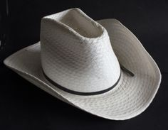 Cowboy straw white men hat size 7 1 8 by Miller made in USA dfac00b3c6db