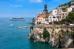 Resort town of Atrani; Amalfi Coast; Italy