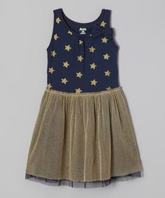 Look at this P Love Blue Star Babydoll Dress - Toddler & Girls on #zulily today!