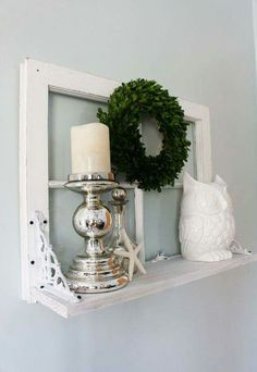 Antique window shelf