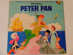 Peter Pan  Story and Songs with Booklet  Walt by notesfromtheattic
