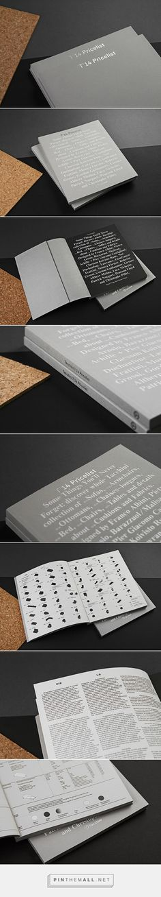 Very tasteful pricelist design by studio Think Work Observe - created via http://pinthemall.net