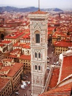 Bell Tower of the Duomo. Wonderful Florence! Tuscany, Italy.