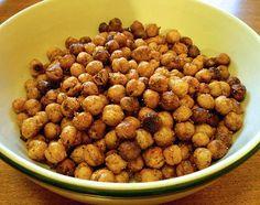 le snack croustillant santé: pois chiches rôtis épicés